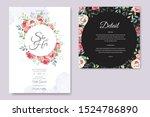 beautiful hand drawn roses... | Shutterstock .eps vector #1524786890