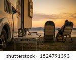 scenic rv campsite pitch.... | Shutterstock . vector #1524791393