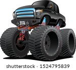 monster pickup truck cartoon... | Shutterstock .eps vector #1524795839