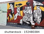 berlin  july 26  graffiti at... | Shutterstock . vector #152480384