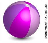 Vector Illustration Of Pink Ball