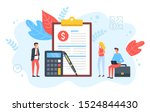 people and clipboard with... | Shutterstock .eps vector #1524844430
