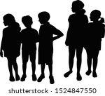 children together black color...   Shutterstock .eps vector #1524847550