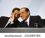 Постер, плакат: Nicolas Sarkozy Silvio Berlusconi