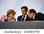 Постер, плакат: Angela Merkel Nicolas Sarkozy
