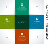 infographics options design... | Shutterstock .eps vector #152489798