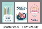 set of birthday greeting cards... | Shutterstock .eps vector #1524926639