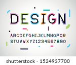 shift font and alphabet color...   Shutterstock .eps vector #1524937700