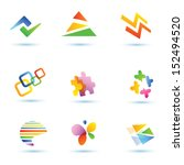 set of abstract vector icons | Shutterstock .eps vector #152494520