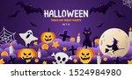 happy halloween banner or party ... | Shutterstock .eps vector #1524984980