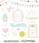 wedding vintage invitation... | Shutterstock .eps vector #152499086
