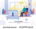 happy mature married couple... | Shutterstock .eps vector #1524991643