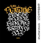gothic style alphabet. letters...   Shutterstock . vector #1524998849