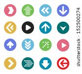 arrow icon set. vector. | Shutterstock .eps vector #152500274