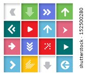 arrow icon set. vector. | Shutterstock .eps vector #152500280
