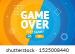 game over or play again concept ... | Shutterstock .eps vector #1525008440