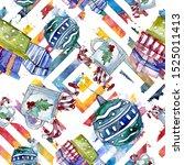 christmas winter holiday symbol.... | Shutterstock . vector #1525011413