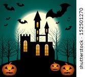 halloween scenery.  eps10 ... | Shutterstock .eps vector #152501270