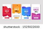 dynamic modern fluid mobile for ... | Shutterstock .eps vector #1525022033