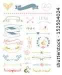 wedding graphic set  arrows ... | Shutterstock .eps vector #152504024
