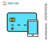 credit card with smartphone...