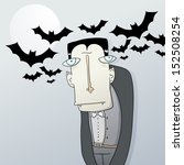 vampire with strange eyes... | Shutterstock .eps vector #152508254