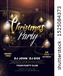 christmas party invitation card ... | Shutterstock .eps vector #1525084373