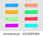 colored paper stickers set with ... | Shutterstock .eps vector #1525099583