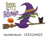 happy halloween. cartoon... | Shutterstock .eps vector #1525124423