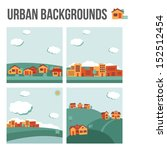 urban background set | Shutterstock .eps vector #152512454
