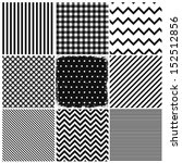 set of seamless backgrounds and ... | Shutterstock .eps vector #152512856