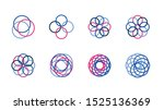 logo elements icon set with... | Shutterstock .eps vector #1525136369