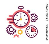 time management color line icon....