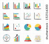 graph chart icons | Shutterstock .eps vector #152516300