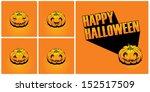 halloween pumpkin | Shutterstock .eps vector #152517509