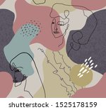 vector seamless pattern with... | Shutterstock .eps vector #1525178159