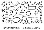 hand drawn arrow vector icons... | Shutterstock .eps vector #1525186049
