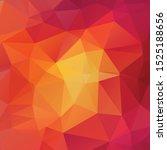 abstract orange polygon texture ... | Shutterstock .eps vector #1525188656