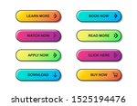 set of website buttons. vector...