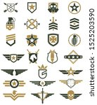 military logo color set   army... | Shutterstock .eps vector #1525203590