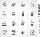 coffee icons set vector  | Shutterstock .eps vector #152520788
