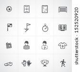 soccer icons set | Shutterstock .eps vector #152520920