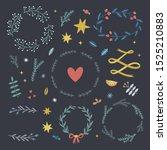 delicate vector festive... | Shutterstock .eps vector #1525210883