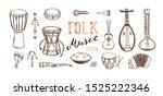 ethnic  folk music festival...   Shutterstock .eps vector #1525222346