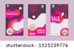 design of editable social... | Shutterstock .eps vector #1525239776