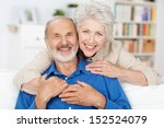 affectionate elderly couple... | Shutterstock . vector #152524079