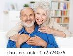 affectionate elderly couple... | Shutterstock . vector #152524079