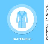 bathrobes icon   vector clothes ... | Shutterstock .eps vector #1525249760
