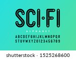 science fiction style font ... | Shutterstock .eps vector #1525268600