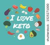 ketogenic diet food. vector... | Shutterstock .eps vector #1525271000